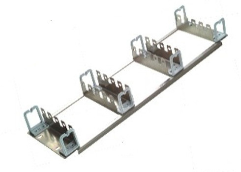 Rack Mount Frame With Jumper Rings , 19 Inch 150 Pairs Back Mount Frame For Krone Module