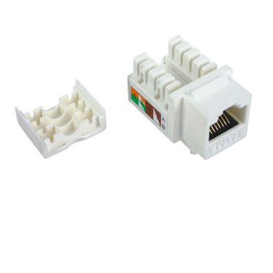 Cat5e RJ45 Keystone جک UTP Punch Down Toolless Keystone Jack استاندارد ISO