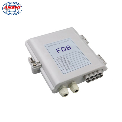 8 core Wall Mount Fiber Distribution Box with PLC splitter waterproof outdoor FAT Box